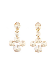 Oscar de la Renta Vintage Rose Rivoli Stone Earrings