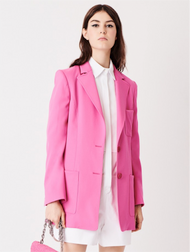 Oscar de la Renta Two Button Spinel Blazer
