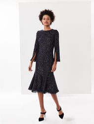 Oscar de la Renta Sequin Tweed Dress