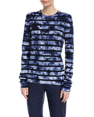 Michael Kors Striped Tie-Dye Long-Sleeve Tee