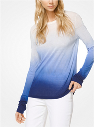 Michael Kors Ombré Viscose and Linen Pullover