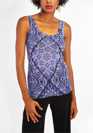 Fuzzi Patterned Tank Top