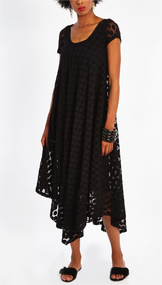 Fuzzi Polka-Dot Loose Dress