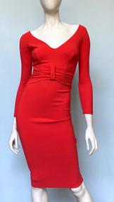 Chiara Boni La Petite Robe Rosso Lacca Claudetta Dress