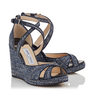 Jimmy Choo Alanah Navy Mix Tweed Wedge