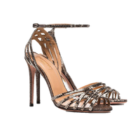 Aquazzura Studio Multi Metal Twilight Sandal with Ankle Strap