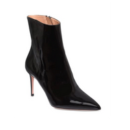 Aquazzura Alma Black Patent Pointy Toe Bootie