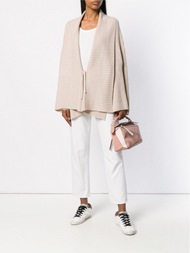Agnona Wide Sleeve Open Front Cashmere Cardigan