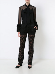 Adam Lippes Corded Lace Tuxedo Pant