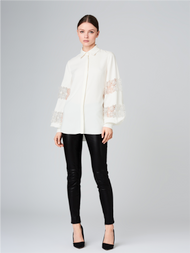 Oscar de la Renta Embroidered Details Shirt