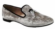 Giuseppe Zanotti Shark Crystal Velvet Loafer