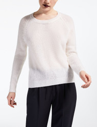 Max Mara Urali Optic White Cashmere Sweater