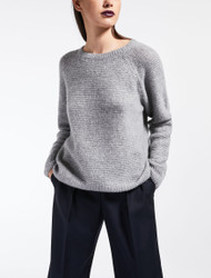 Max Mara Urali Medium Grey Cashmere Sweater