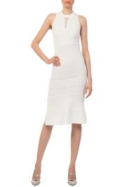 Jonathan Simkhai Link Ribbed Asymmetric Ivory Dress