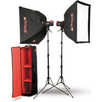 Photoflex SK-FF400DMXTB FlexFlash 400W Strobe Light Kit