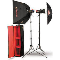 Photoflex FlexFlash 400W/s 2 Light Umbrella / Medium LiteDome Kit