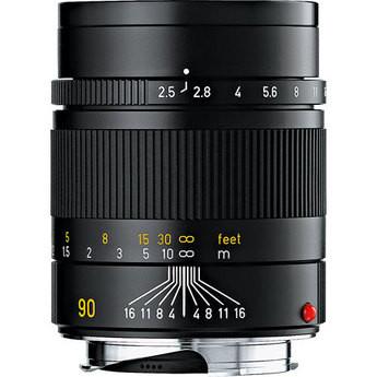 Leica 90mm f/2.5 Summarit-M Manual Focus Lens (Black)