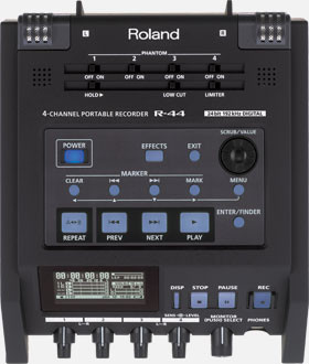 Roland R-44 Compact Four-Channel Portable RecordeR