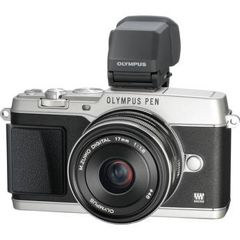 Olympus E-P5 PEN Mirrorless Camera w/ 17mm f/1.8 Lens and VF-4 Viewfinder
