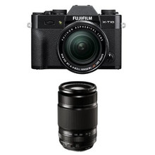 Fujifilm X-T10 Black w/ XF 18-55mm & XF55-200mm F3.5-4.8 Lens Kit