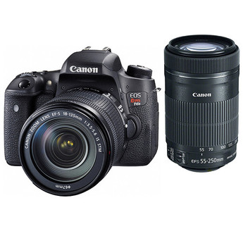 Canon EOS Rebel T6s EF-S 18-135mm IS STM Lens Kit + EF-S 55-250mm f/4-5.6 IS STM* (CANT0020C003)