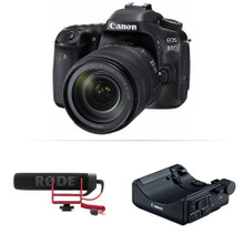 Canon EOS 80D DSLR Camera with 18-135mm Lens Video Creator Kit (CAN1263C103)