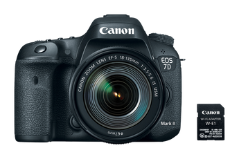 Canon EOS 7D Mark II Wi-Fi Adapter Kit (Body Only) (CAN9128B002KIT)