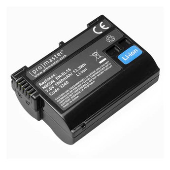 ProMaster  EN-EL15 XtraPower Lithium Ion Replacement Battery for Nikon #3340, New York, California, Maryland, Connecticut