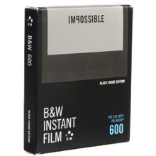 Impossible B&W Instant Film for 600 (Black Frame, 8 Exposures)
