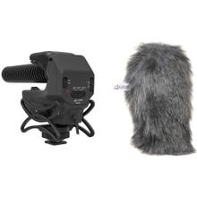Azden SMX-15 Microphone with Furry Windshield Bundle