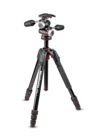 190go! MS Aluminum Tripod kit 4-Section with XPRO 3-way head
