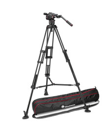 Nitrotech N8 video head w/ Twin leg tripod middle spreader