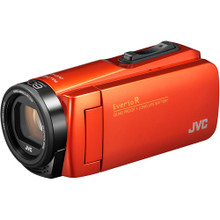 JVC Everio GZ-R460BUS Quad-Proof HD Camcorder with 40x Optical Zoom (Orange)