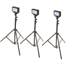 Bescor Three-Point LED-70 Studio On-Camera Lighting Kit