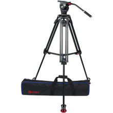 OZEN 75AL2HD 75mm Aluminum Tripod & Agile 6 Fluid Head System (E-Z-Load)