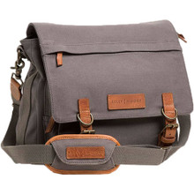 Kelly Moore The Kate Bag (2.0) (Gray Canvas with Brown Trim)