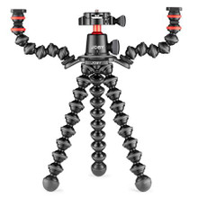 Joby GorillaPod 3K PRO Rig, Includes Stand, BallHead with QR Plate & 2 Arms, 6.6 lb Load Capacity