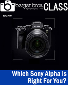 02/18/21 - Which Sony Alpha Camera Is Right For You? Zoom Class