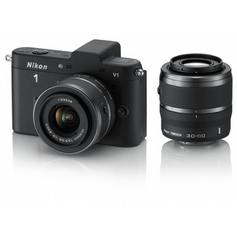 Nikon 1 V1 Mirrorless Digital Camera w/ 10-30mm And 30-110mm Lenses