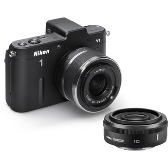 Nikon 1 V1 Mirrorless Digital Camera w/ 10mm And 10-30mm Lenses