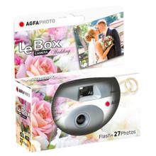 AgfaPhoto LeBox  Wedding Single-Use Flash Camera (27 Exposures)