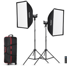 Godox SL100D 2-Light Kit with Softboxes and Case