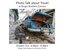 10/21/21 - Photo Talk about Travel at Berger Brothers Camera