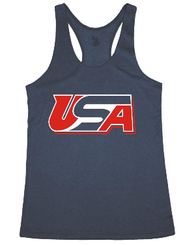4. AIST Badger Women's Pro Heather Tank  - NAVY