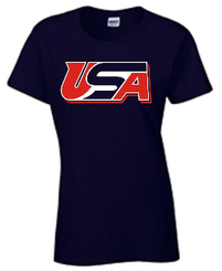 2a. AIST Women's Gildan Cotton T-Shirt - NAVY