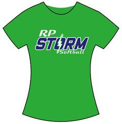 2b. RP Storm Women's Cotton Gildan T-Shirt - Electric Green
