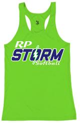 E3. RP Storm Women's Badger Tank  - Electric Green