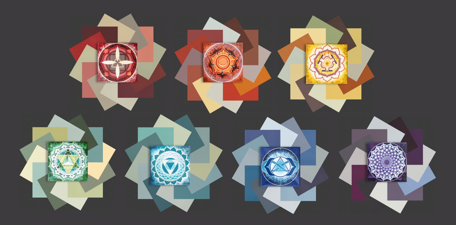 Chakra Palettes by Color in Space