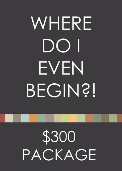 Where do I Even Begin?! Consultation