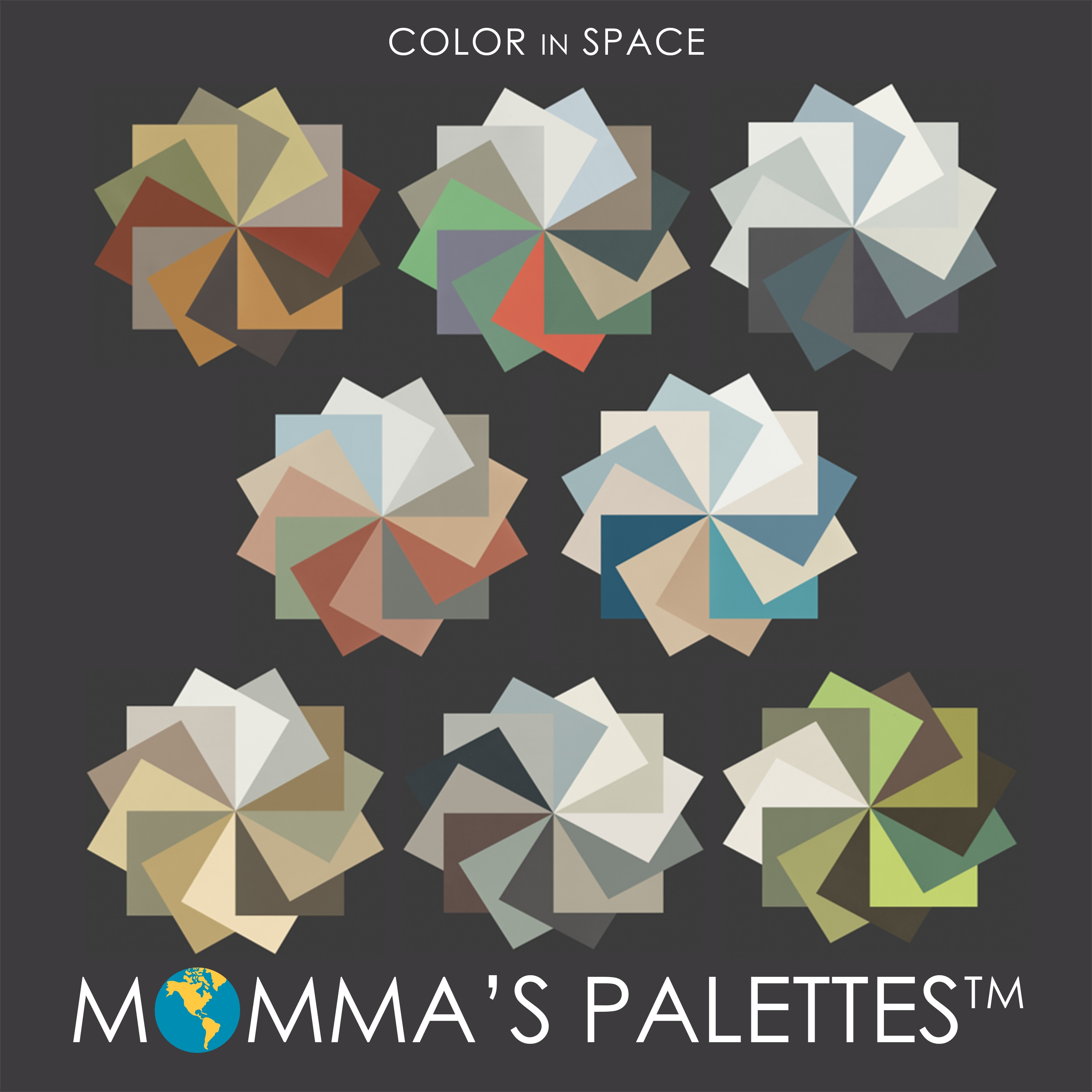 Mommas Palettes by Color in Space